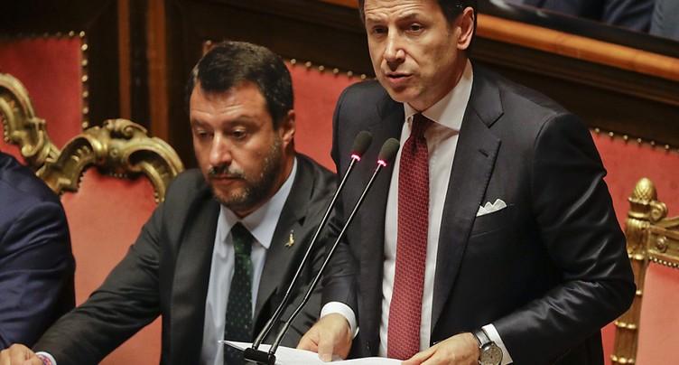 Conte juge « irresponsable » de Salvini d'avoir déclenché la crise