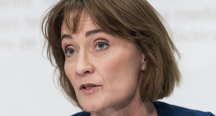 La secrétaire d'Etat aux affaires étrangères Pascale Baeriswyl part
