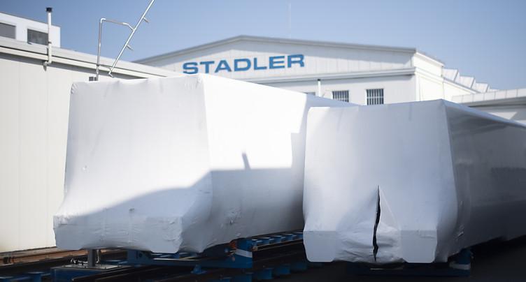 Stadler Rail: contrat de 270 millions de francs en Pologne