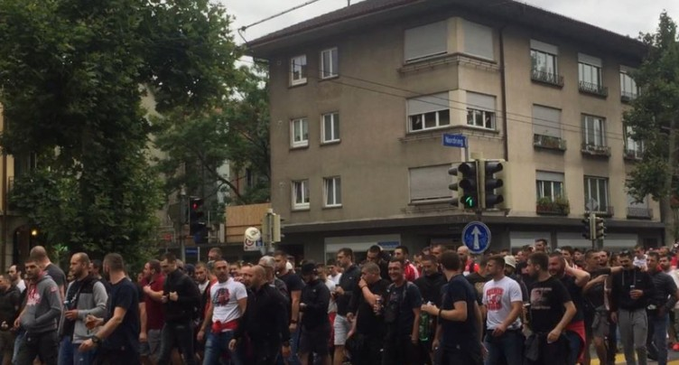 Echauffourées à l'occasion du match YB - Etoile Rouge de Belgrade