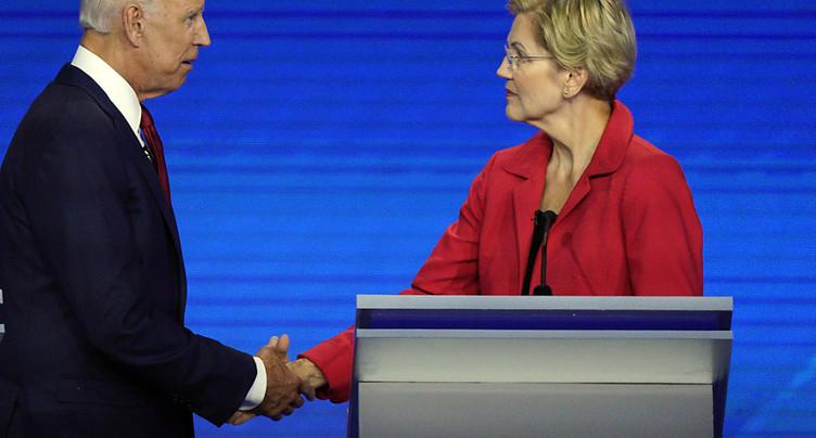 Débat démocrate: le centriste Biden à l'offensive