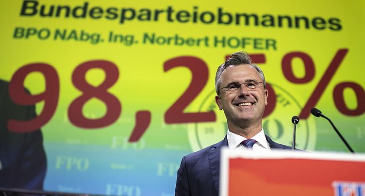 Norbert Hofer élu à la tête du FPÖ