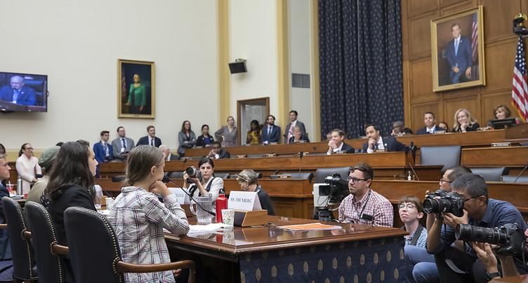 Greta Thunberg interpelle le Congrès américain et exige des actions