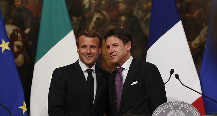 Répartition européenne des migrants: Conte et Macron d'accord