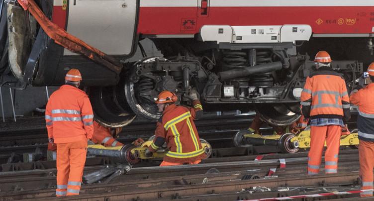 Pas d'erreur humaine dans des déraillements à Lucerne à Bâle