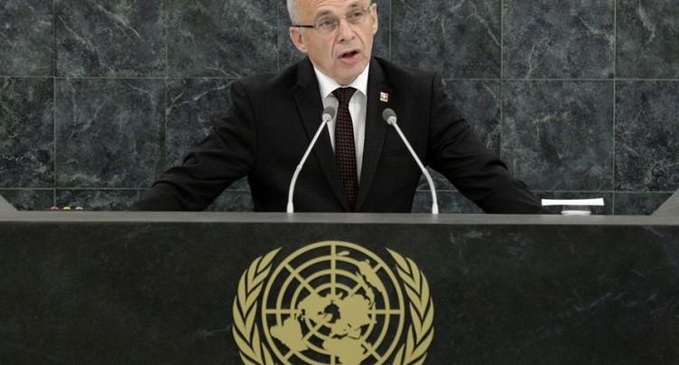 Trois grandes priorités pour Ueli Maurer et Ignazio Cassis à l'ONU