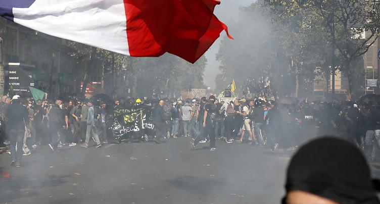 Tensions lors d'une marche pour le climat à Paris