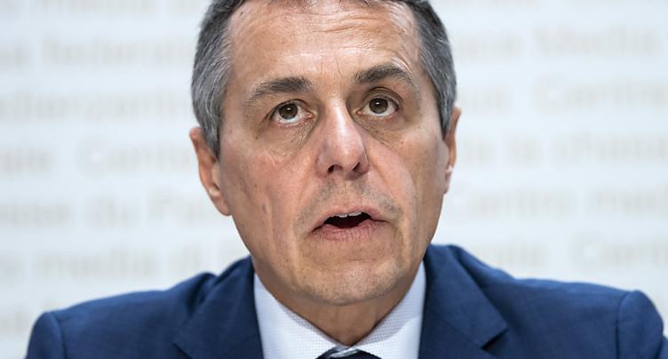 Ignazio Cassis s'inquiète d'un risque de guerre au Moyen-Orient