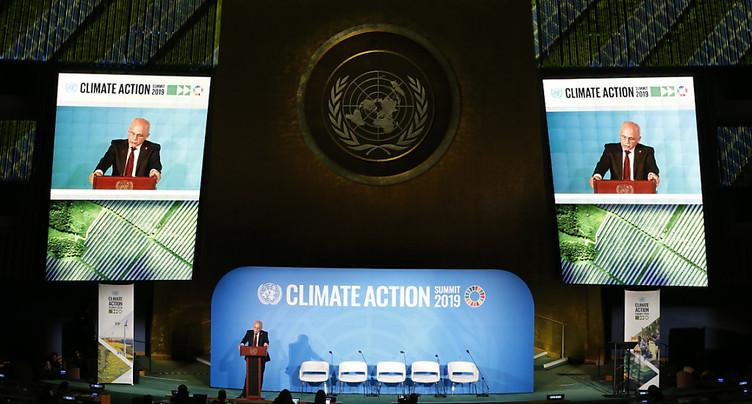 Au Sommet sur le climat, Maurer plaide pour « plus d'innovation »