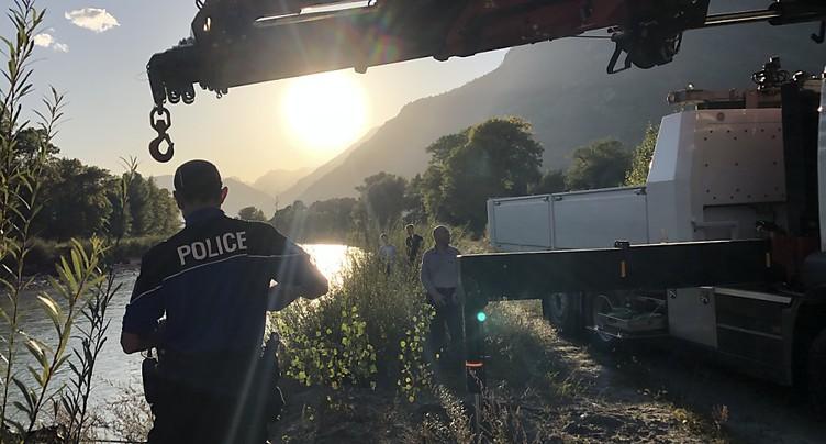 Lave torrentielle de Chamoson: une voiture retrouvée dans le Rhône