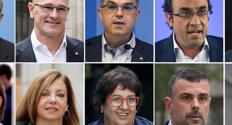 Jusqu'à treize ans de prison pour les indépendantistes catalans