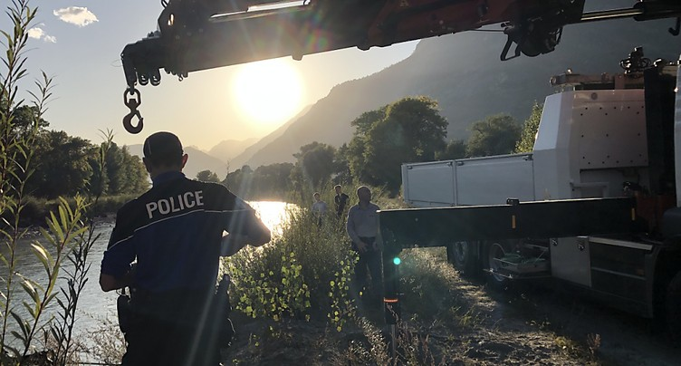 Drame de Chamoson: la voiture a été retrouvée, mais pas les corps