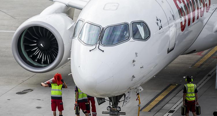 Swiss a inspecté ses avions et remet en service 12 appareils