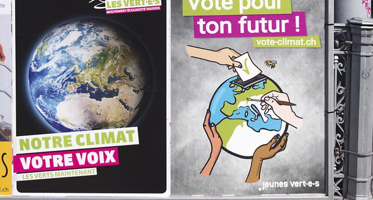 Conseil national: vers un triomphe des partis écologistes