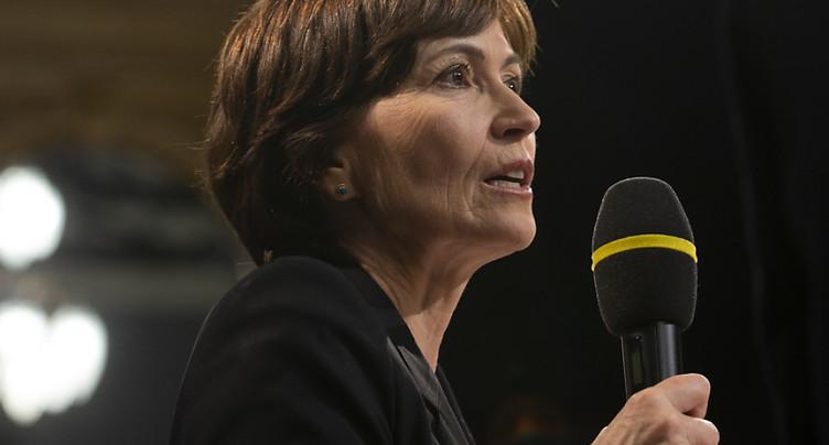 Les Verts envisagent un changement au Conseil fédéral