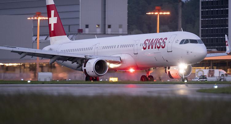 Demi-tour d'un vol Swiss Zurich-Rome juste après le décollage