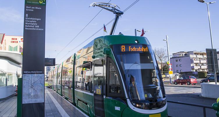 Une femme meurt happée par un tram bâlois à Weil-am-Rhein (D)