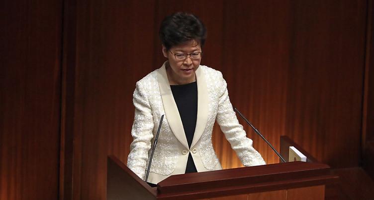 Pékin voudrait remplacer la cheffe de l'exécutif de Hong Kong