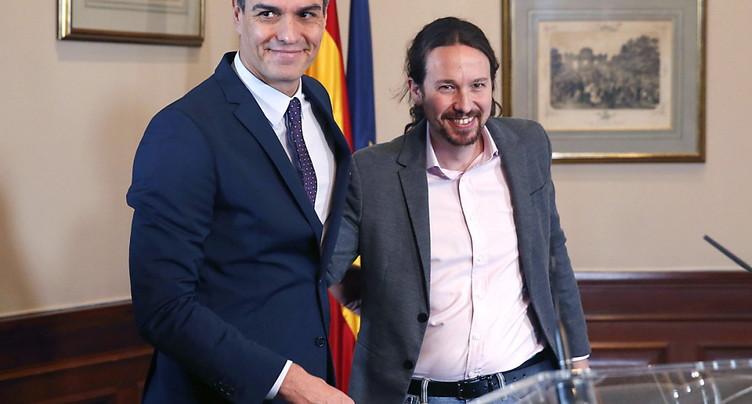 Le Parti socialiste et Podemos ont scellé un accord de principe