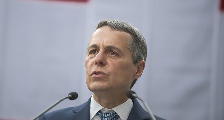 Ignazio Cassis veut rester aux affaires étrangères