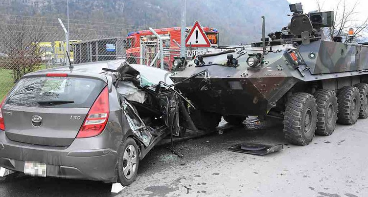 Octogénaire décédée après une collision contre un char militaire