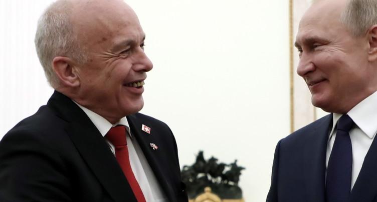 Ueli Maurer et Poutine s'accordent pour renforcer leur coopération
