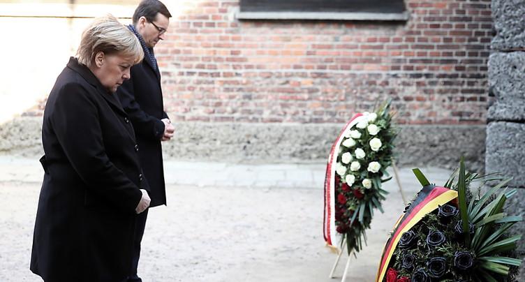 Angela Merkel en visite à Auschwitz pour la première fois