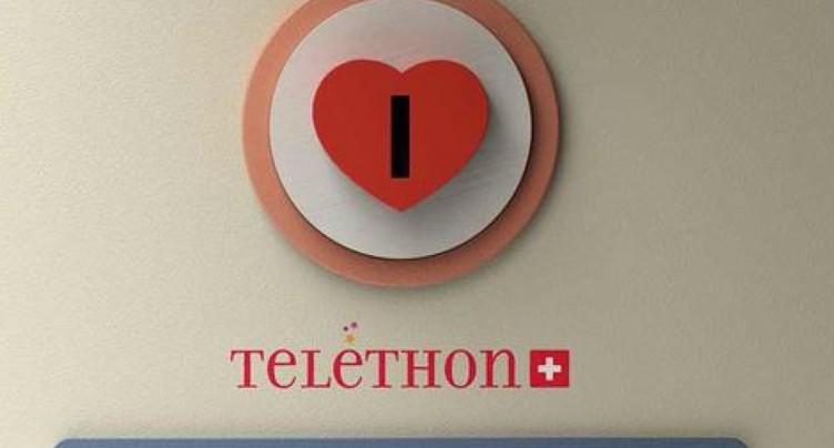 Téléthon Suisse: plus de 2,1 millions de francs récoltés
