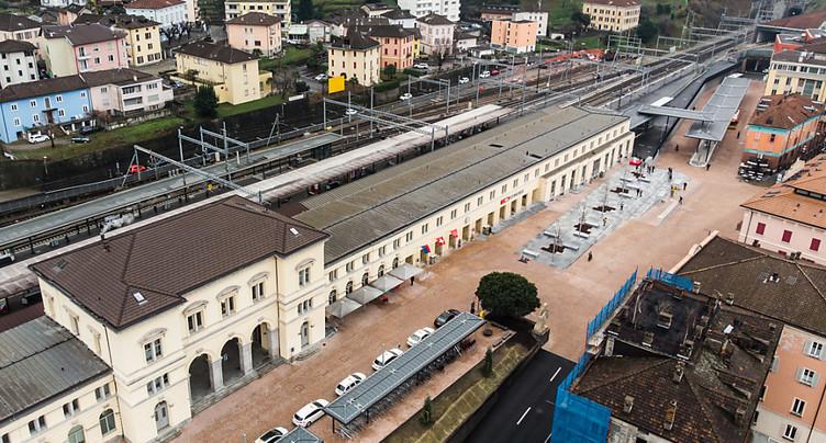 La gare de Bellinzone prête pour l'ouverture du tunnel du Ceneri