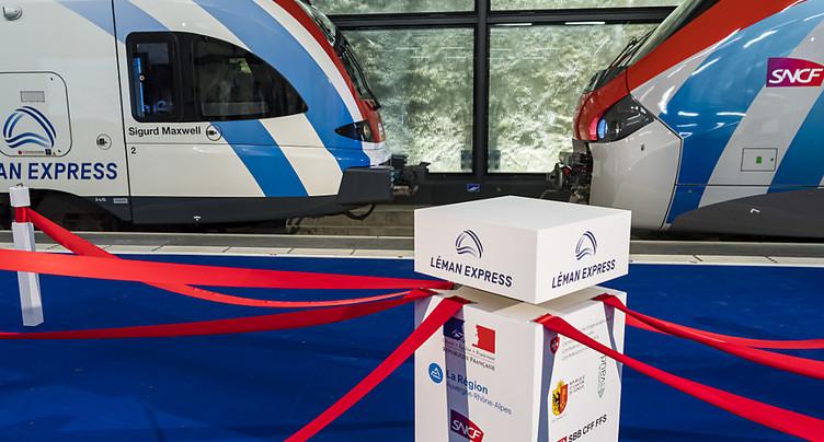 Le Léman Express officiellement inauguré après cent ans d'attente