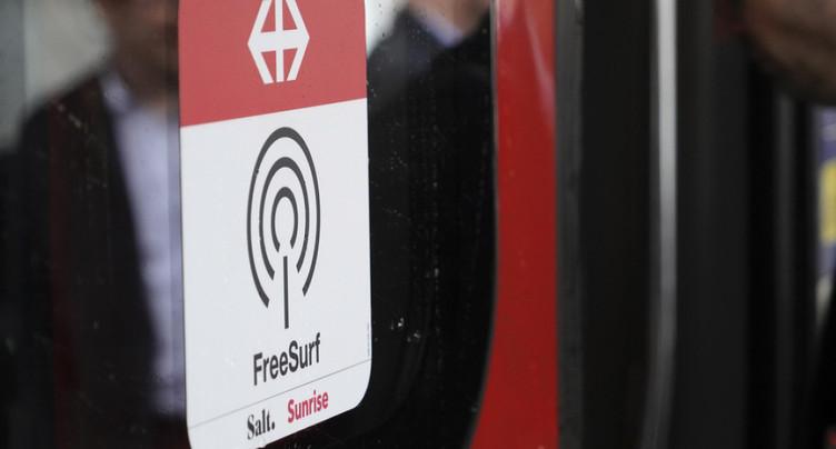 Les CFF vont introduire l'internet gratuit dans 2500 trains grandes lignes