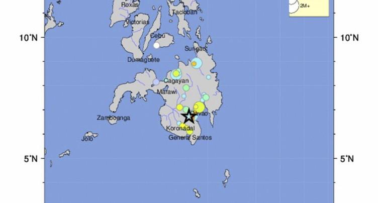 L'île de Mindanao frappée par un séisme de magnitude 6,8