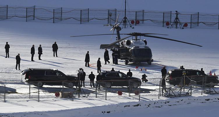 Arrivée du président américain Donald Trump à Zurich (images SRF)