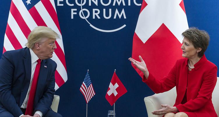Trump veut un accord de libre-échange avec la Suisse