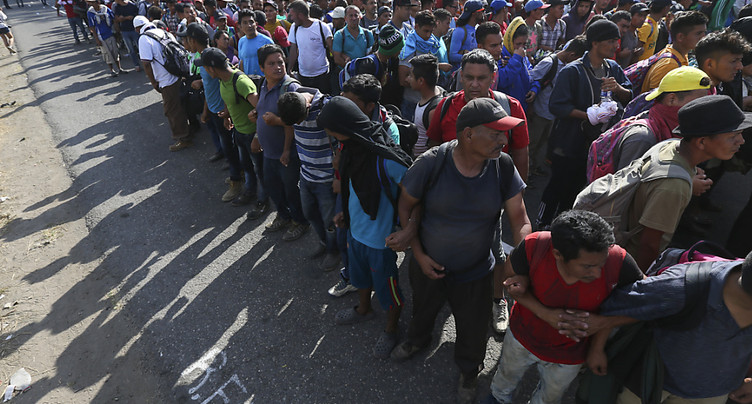 Des centaines de migrants d'Amérique centrale arrêtés au Mexique