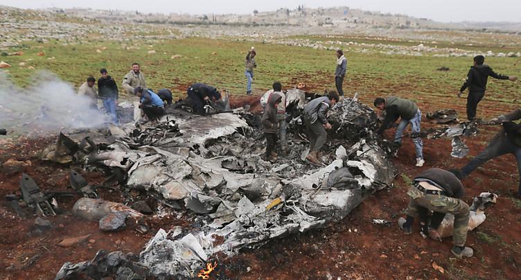 Un hélicoptère de l'armée syrienne abattu
