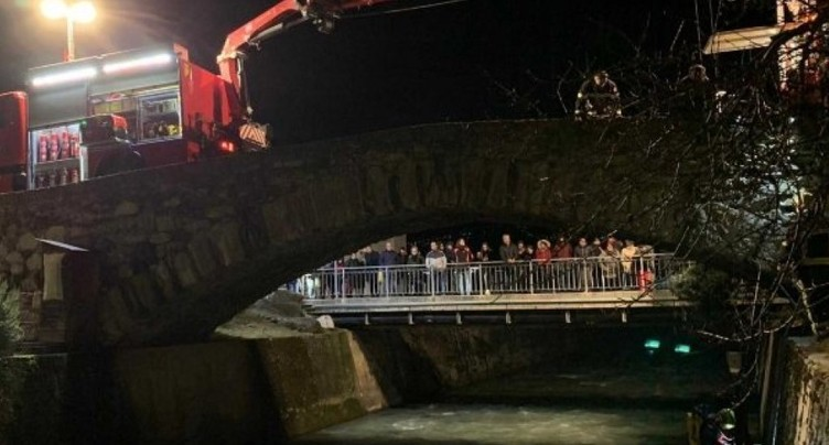 Les pompiers sauvent un âne tombé dans la rivière en Valais