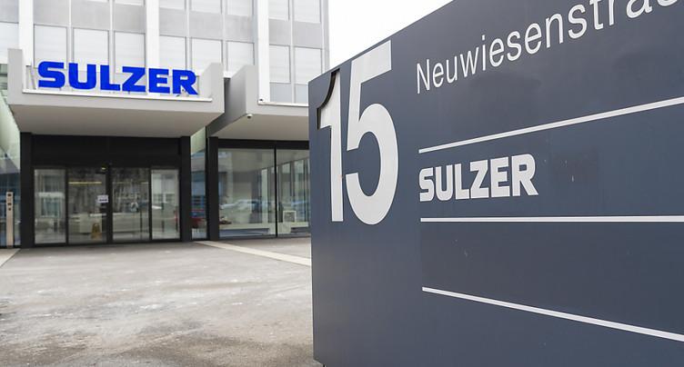 Sulzer affiche des ventes et une rentabilité annuelles en hausse