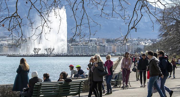 Le mercure a frôlé les 20 degrés en Suisse romande