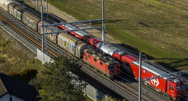 La nouvelle voie fret Coppet - Founex en service