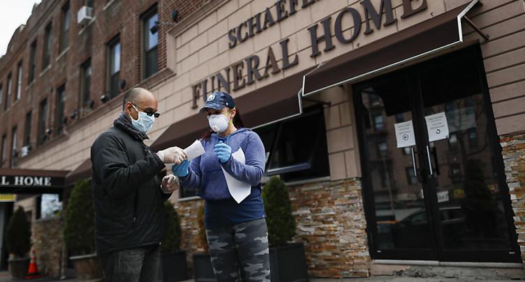 1169 morts aux Etats-Unis en 24h, pire bilan quotidien dans un pays