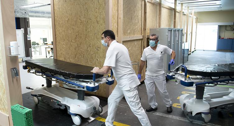 Vaud: plus de 100 décès mais hospitalisations en baisse