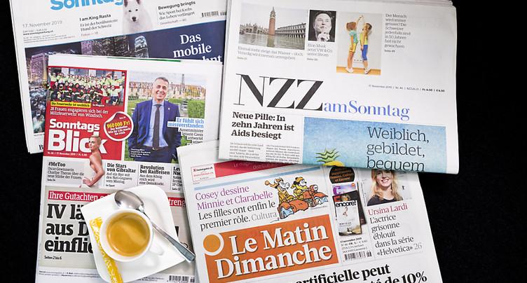 Aide à la presse élargie à la distribution matinale et dominicale