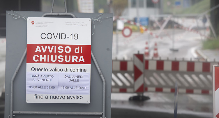 La Suisse juge prématuré de rouvrir sa frontière avec l'Italie
