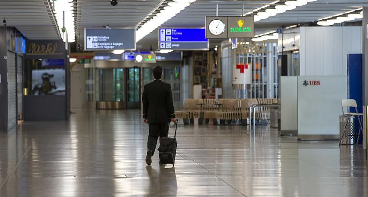Chute de 62% des passagers dans les aéroports suisses en mars