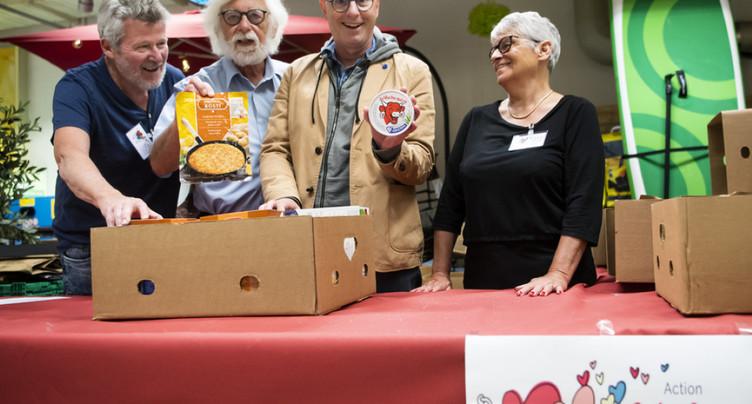 Solidarité: ferveur romande pour l'opération « Caddie pour Tous »