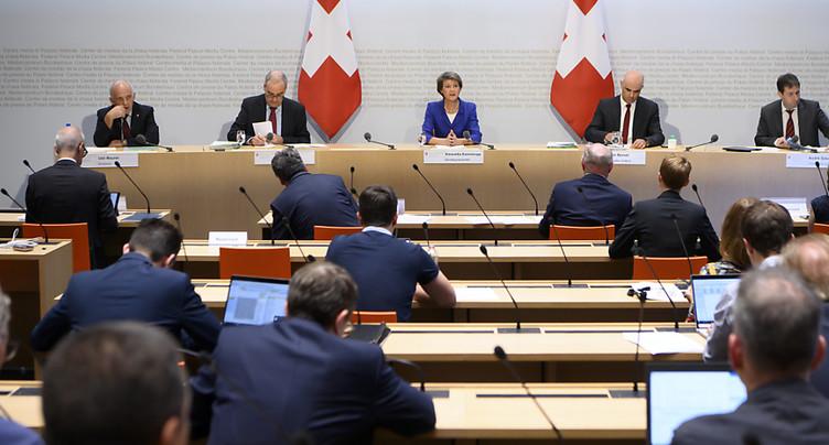 Le Conseil fédéral appelle à un nouvel équilibre