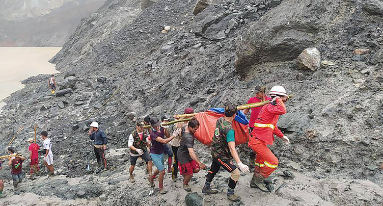 Plus de 160 morts dans un glissement de terrain dans des mines
