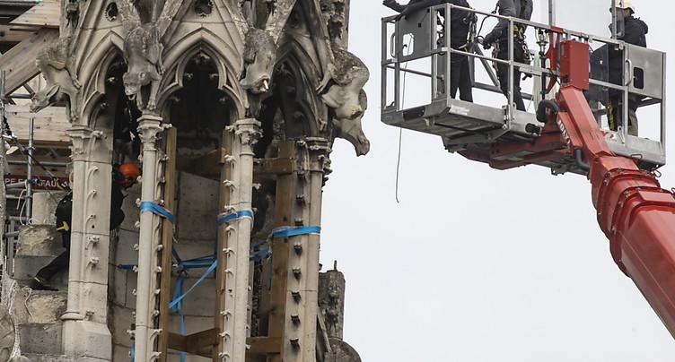 Notre-Dame: fin du démontage de l'échafaudage « avant fin septembre »