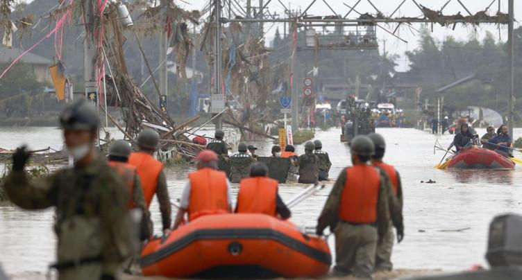 Inondations à Kyushu: au moins 36 morts, poursuite des recherches